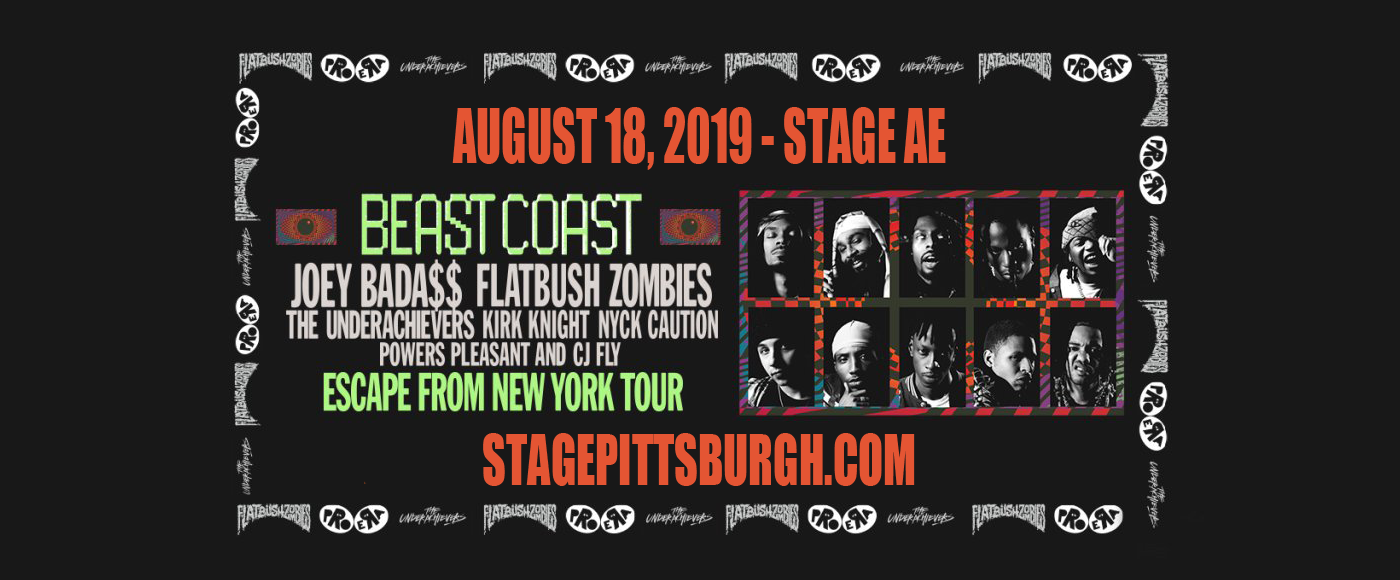 Beast Coast: Joey Bada$$, Flatbush Zombies, The Underachievers, Kirk Knight & Nyck Caution at Stage AE