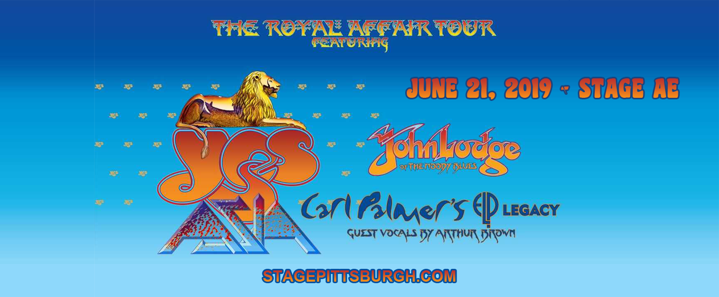 The Royal Affair: Yes, Asia, John Lodge & Carl Palmer's ELP Legacy at Stage AE