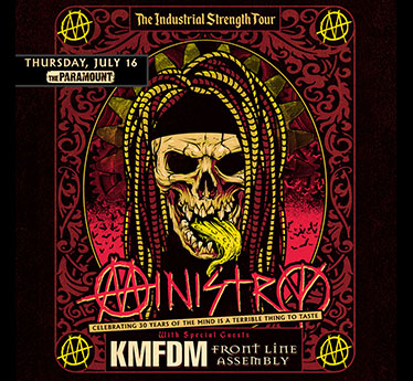Ministry, KMFDM & Front Line Assembly [CANCELLED] at Stage AE